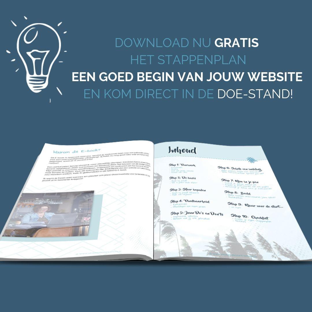 Inhoud Een goed begin van jouw website